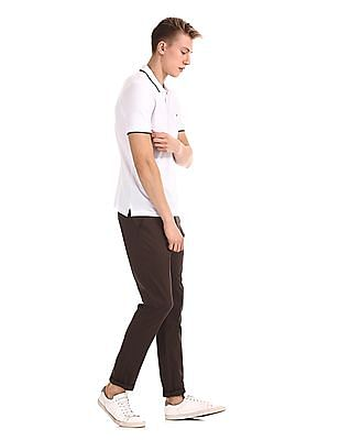 Ruggers White Short Sleeve Tipped Polo Shirt