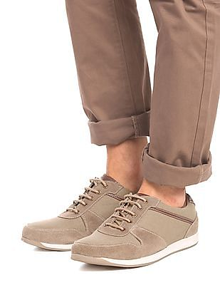 U.S. Polo Assn. Denim Co. Suedette Panel Low Top Sneakers