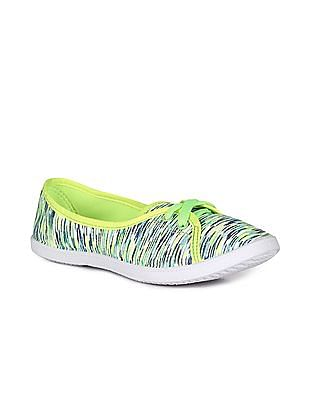 SUGR Green Patterned Knit Sneakers