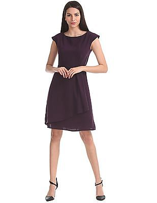 Elle Layered Fit And Flare Dress