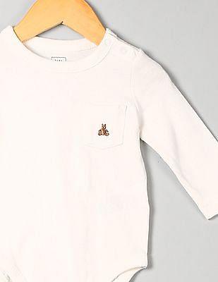 GAP Baby White Brannan Pocket Bodysuit