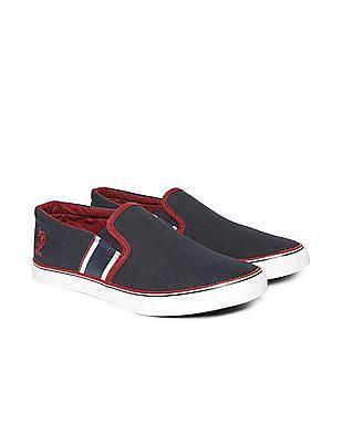 U.S. Polo Assn. Contrast Trim Canvas Slip On Shoes