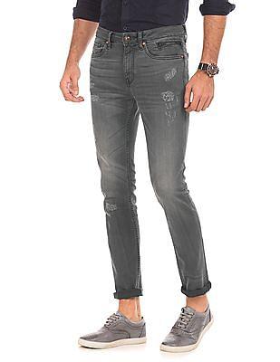 Ed Hardy Distressed Super Slim Fit Jeans