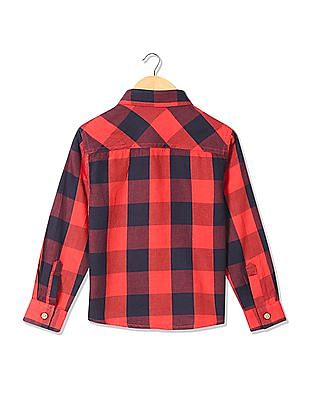 Cherokee Boys Long Sleeve Check Shirt