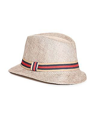 Day 2 Day Boys Striped Trim Fedora Hat