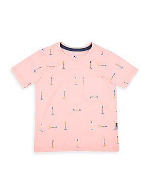 U.S. Polo Assn. Kids Boys Mallet Print Jersey T-Shirt
