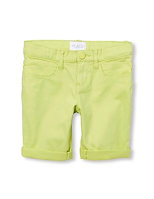 The Children's Place Girls Solid Woven Skimmer Shorts