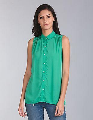 GAP Sleeveless Shirred Shirt