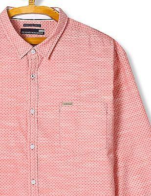 Flying Machine Long Sleeve Patterned Shirt