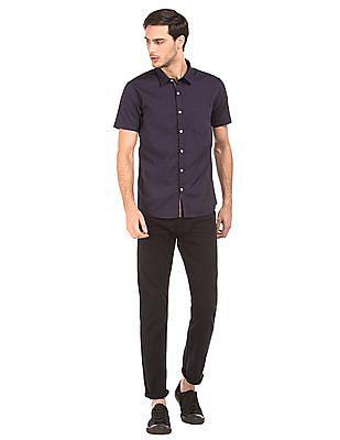 Ruggers Short Sleeve Solid Shirt