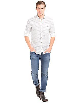 Ed Hardy Slim Fit Floral Print Shirt