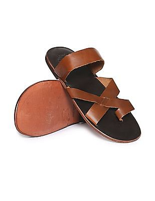 U.S. Polo Assn. Cross Strap Solid Sandals