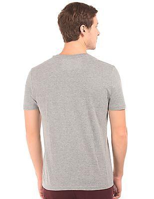 Aeropostale Heathered V-Neck T-Shirt
