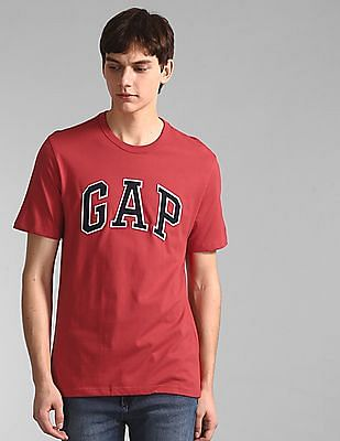 GAP Red Short Sleeve Applique Logo T-Shirt
