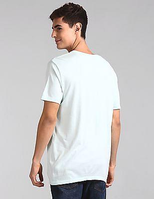 GAP Blue Vintage Wash V-Neck T-Shirt
