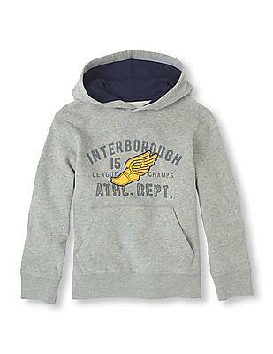 The Children's Place Boys Heathered Popover Sweatshirt