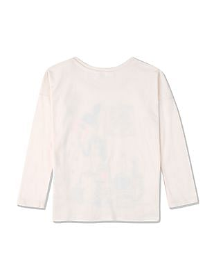 GAP Girls Long Sleeve Printed T-Shirt