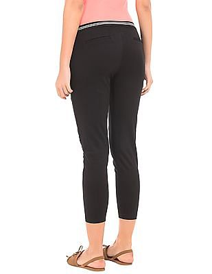 Cherokee Solid Ankle Length Pants