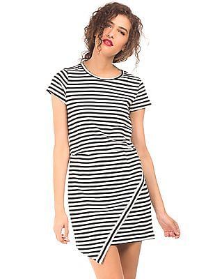 Elle Striped Asymmetrical Dress