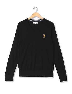 U.S. Polo Assn. Standard Fit V-Neck Sweater