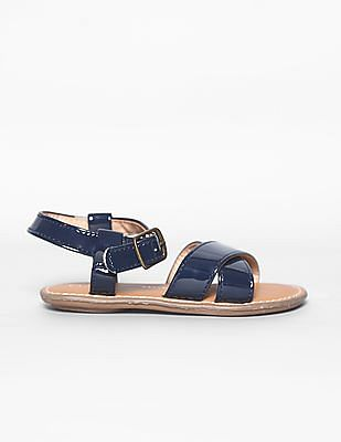 GAP Baby Patent Cross Strap Sandals