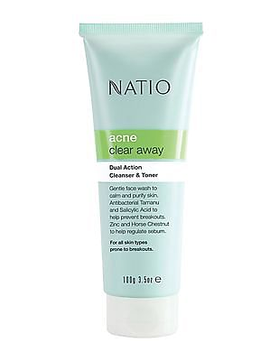 NATIO Dual Action Cleanser And Toner - Acne Prone Skin