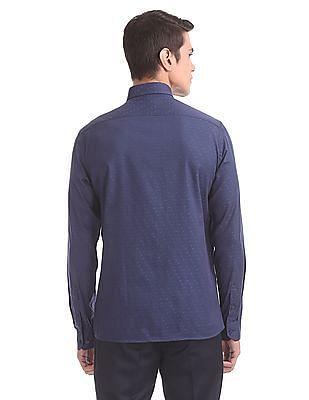 Arrow Newyork Slim Fit Jacquard Shirt