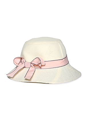 Day 2 Day Girls Bow Trim Straw Hat