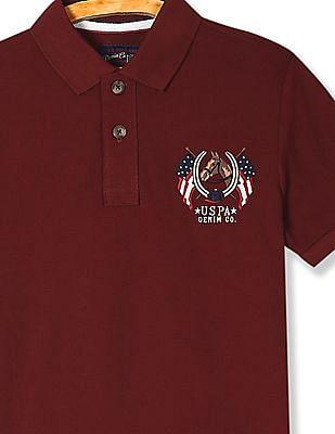 U.S. Polo Assn. Denim Co. Short Sleeve Solid Polo Shirt