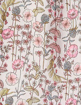 GAP Girls Floral Button-Back Top