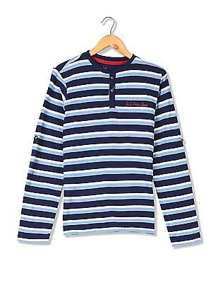 POLO ASSN U.S Boys Long Sleeve Graphic Printed T-Shirt