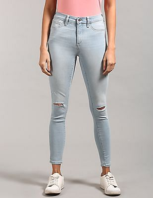 GAP Washwell Mid Rise Favourite Jeggings With Destruction