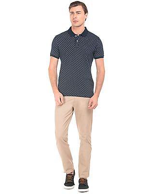 Arrow Sports Printed Jersey Polo Shirt