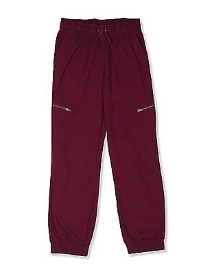 The Children's Place Red Boys Solid Woven Joggers