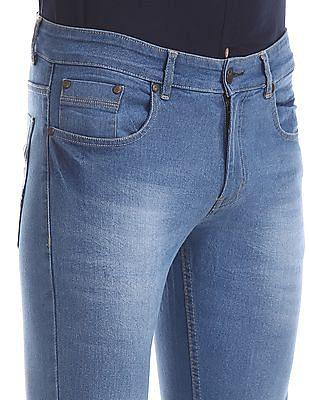 Newport Blue Low Rise Slim Fit Jeans