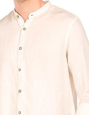 Cherokee Patterned Cotton Linen Shirt
