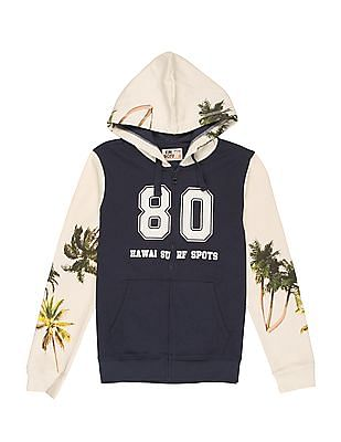 FM Boys Boys Colour Block Hooded Sweatshirt