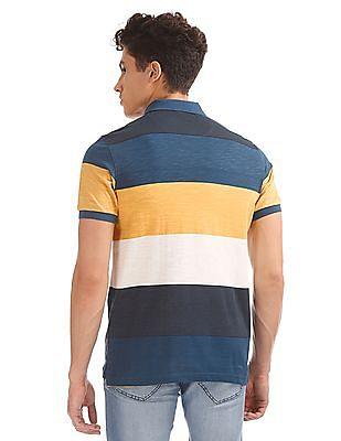 Flying Machine Regular Fit Striped Polo Shirt