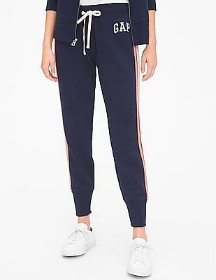GAP Blue Vintage Soft Logo Side Stripe Joggers