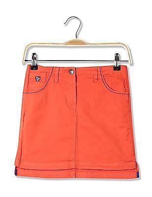 U.S. Polo Assn. Kids Girls Standard Fit High-Low Mini Skirt