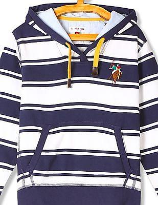 U.S. Polo Assn. Kids Boys Hooded Stripe Sweatshirt