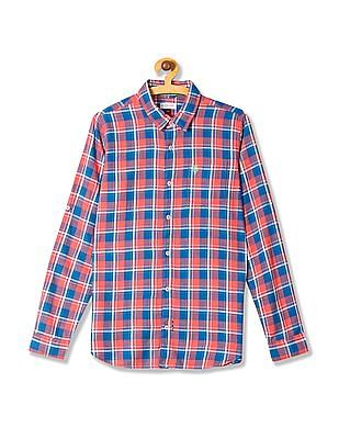 U.S. Polo Assn. Kids Boys Long Sleeve Check Shirt