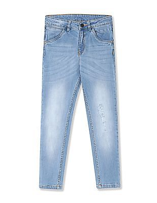 Cherokee Boys Distressed Slim Fit Jeans