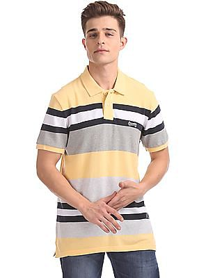 Aeropostale Striped Short Sleeve Polo Shirt