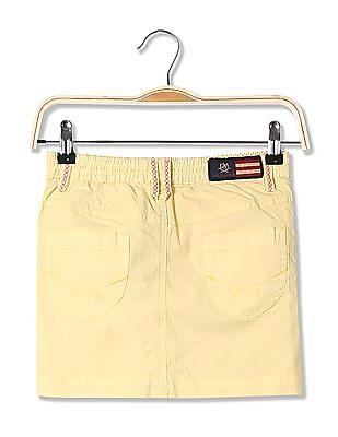 U.S. Polo Assn. Kids Girls Standard Fit Solid Mini Skirt