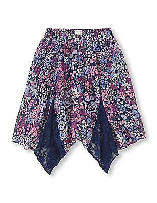 The Children's Place Girls Handkerchief Hem Printed Skirt