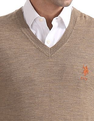 U.S. Polo Assn. Merino Wool V-Neck Sweater