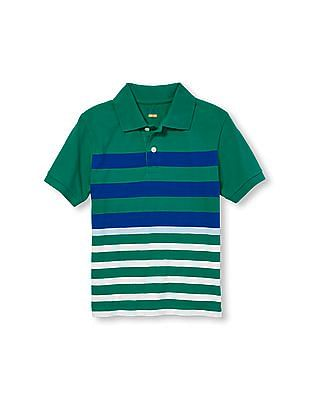 The Children's Place Boys Short Sleeve Striped Polo