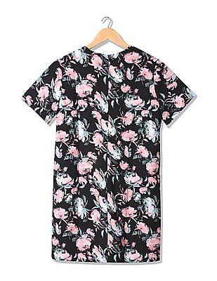 Elle Floral Print A-Line Dress