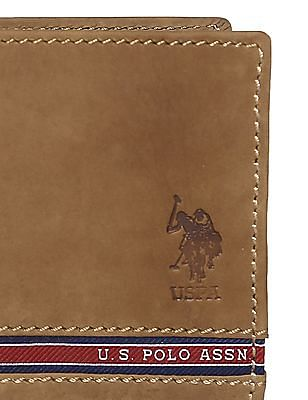 U.S. Polo Assn. Brown Bi-Fold Leather Wallet
